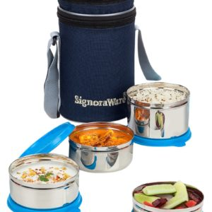 Signoraware-Lunch-Box-Set-Stainless-Steel